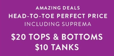 $20 Tops & Bottoms & $10 Tanks from Catherines Plus Sizes
