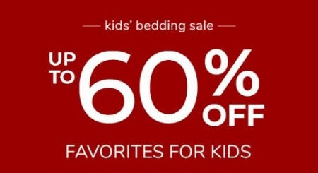 Up to 60% Off Favorites for Kids from Pottery Barn Kids