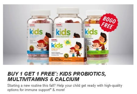 Buy 1, Get 1 Free: Kids Probiotics, Multivitamins & Calcium