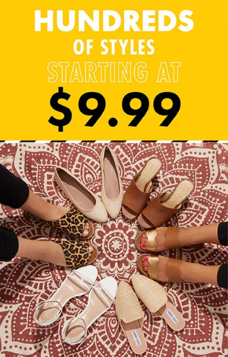 Hundreds of Styles Starting at $9.99 from DSW Shoes