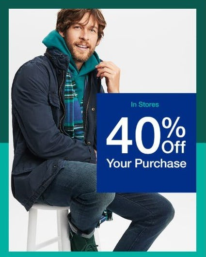 40% Off your Purchase from Gap