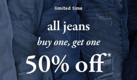 BOGO 50% Off All Jeans from Abercrombie Kids