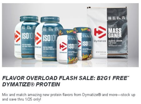 B2G1 Free Dymatize Protein from GNC