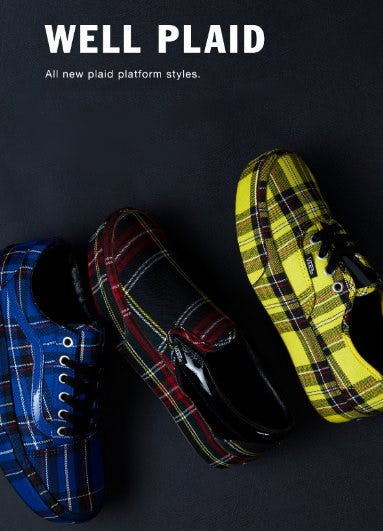 Well Plaid from Vans