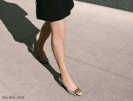 The New Ballet Flat with a Little Lift from Tory Burch