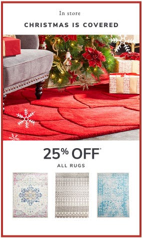 25% Off All Rugs