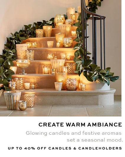 Up to 40% Off Candles & Candleholders