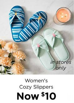 Women's Cozy Slippers Now $10 from Kirkland's