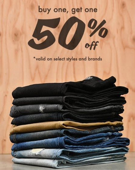 Buy One, Get One 50% Off Denim