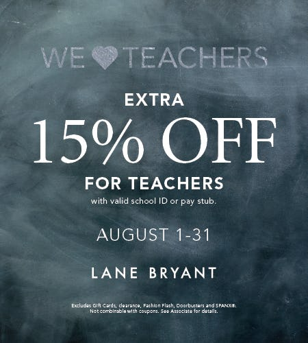 WE HEART TEACHERS! from Lane Bryant