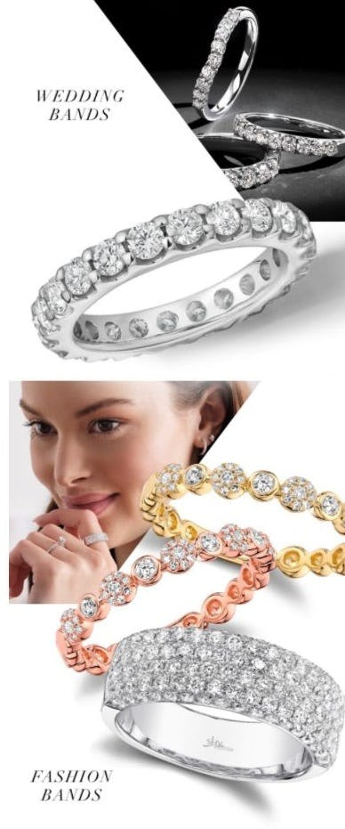 Stackable Wedding and Fashion Bands from Jared Galleria of Jewelry