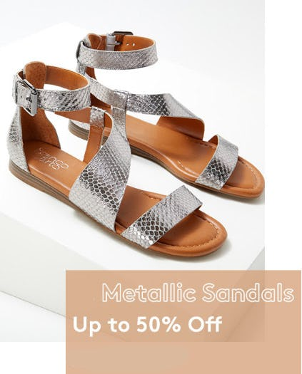 Up to 50% Off Metallic Sandals from Nordstrom Rack