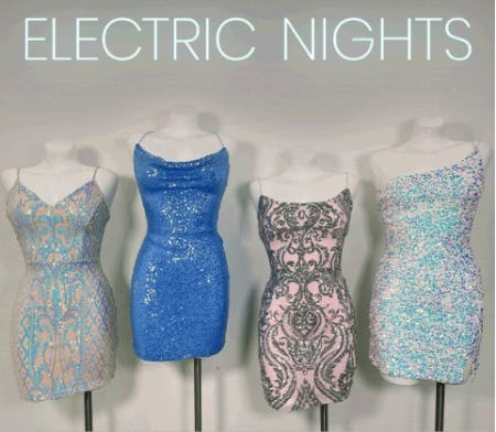 Bright and Sparkly Club Dresses