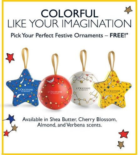 Pick Your Perfect Festive Ornaments for Free from L'Occitane
