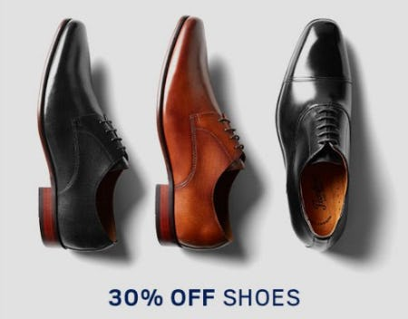 30% Off Shoes from Men's Wearhouse