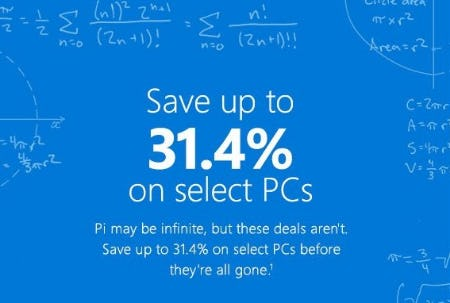 Up to 31.4% Off Select PCs from Microsoft