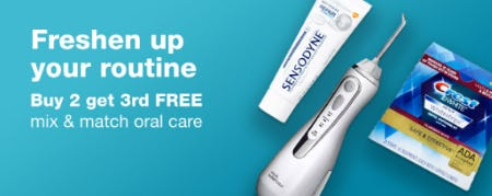 Buy 2, Get 3rd Free Mix & Match Oral Care