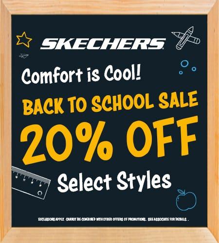 Shop Skechers 20% OFF Back to School Sale from Skechers
