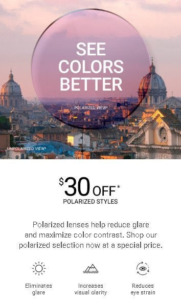 $30 Off Polarized Styles