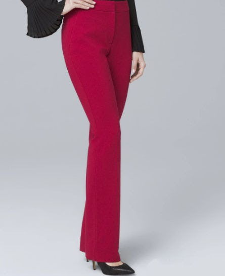 Crepe Slim Flare Suiting Pants from White House Black Market