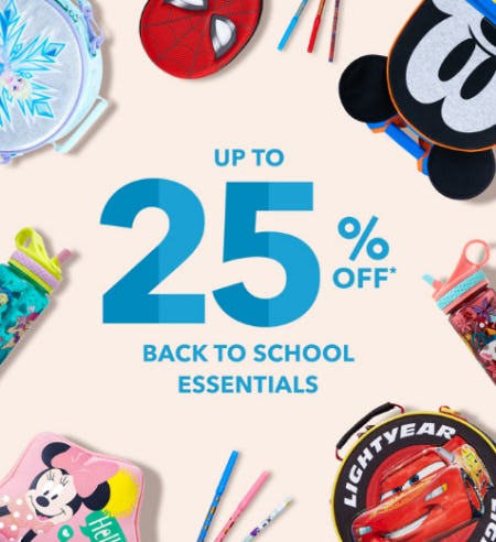 Up to 25% Off Back to School from Disney Store