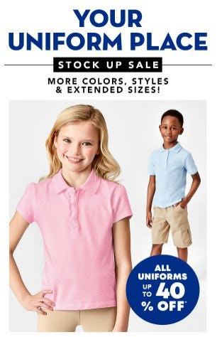 All Uniforms up to 40% Off from The Children's Place