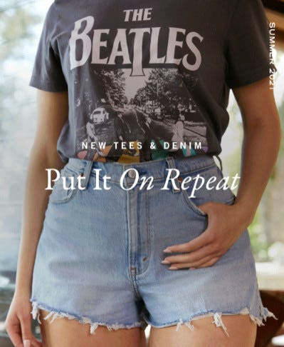 New Band Tees & Denim Are In from Abercrombie & Fitch