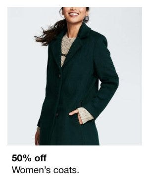 50% Off Women's Coats