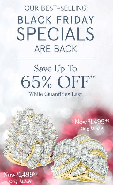 Best-Selling Black Friday Specials up to 65% Off from Zales Jewelers