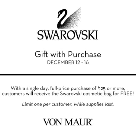 	Swarovski cosmetic bag Gift with Purchase from Von Maur