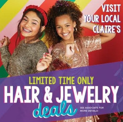Hair & Jewelry Deals from Claire's