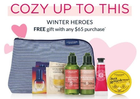 Free 9-Piece Gift With Any $65 Purchase from L'Occitane