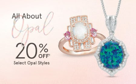 20% Off Select Opal Styles from Zales Jewelers