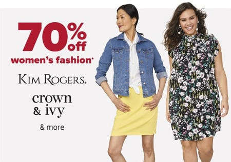 70% Off Women's Fashion from Belk