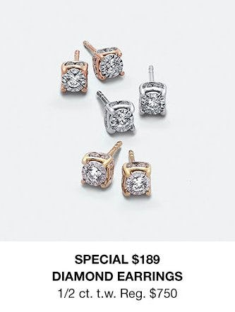 e10d470dc $189 Diamond Earrings at macy's | Florence Mall