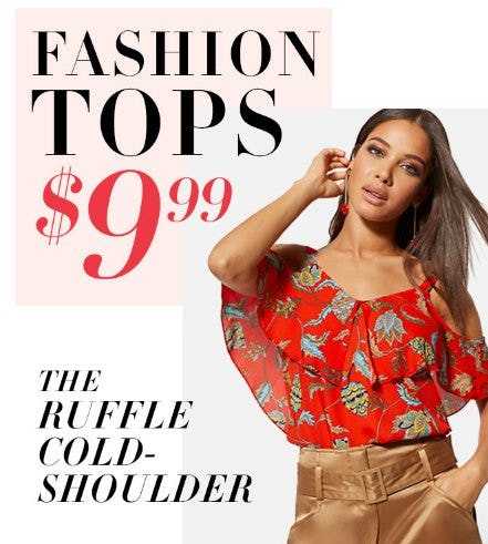 Fashion Tops $9.99 from New York & Company