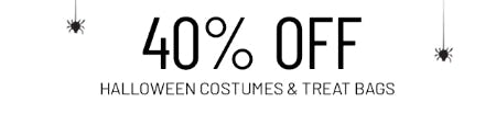 40% Off Halloween Costumes & Treat Bags from Pottery Barn Kids