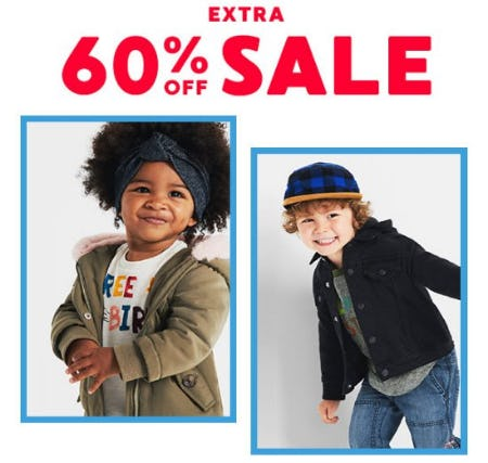 Extra 60% Off Sale from Gymboree