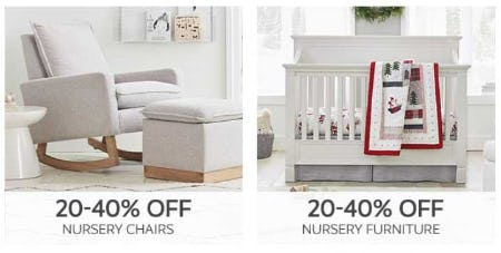 20–40% Off Nursery Chairs and Nursery Furniture from Pottery Barn Kids