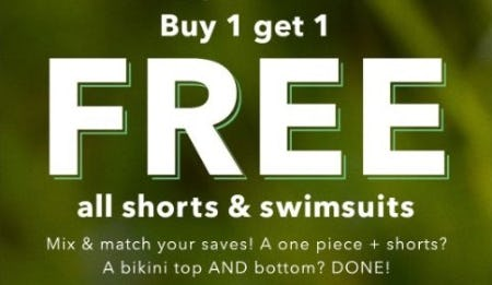 B1G1 Free All Shorts & Swimsuits from Aerie