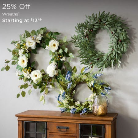 25% Off Wreaths from Kirkland's Home