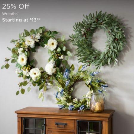 25% Off Wreaths