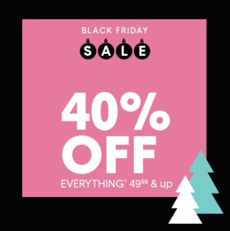 40% Off Black Friday Sale