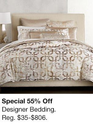 55% Off Designer Bedding