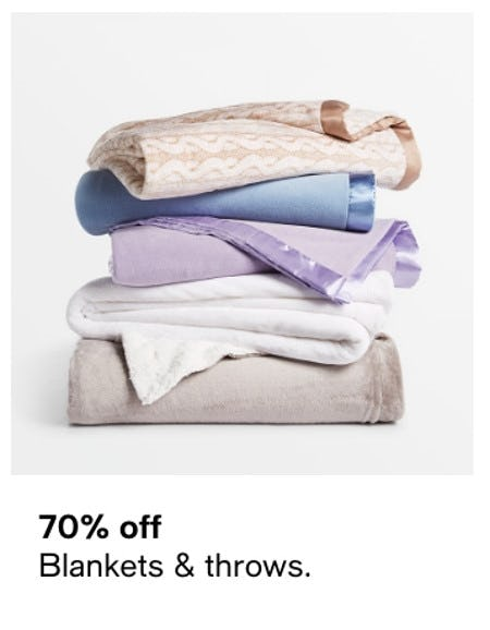 70% Off Blankets & Throws from macy's