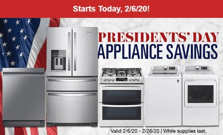 Presidents' Day Appliance Savings from Costco