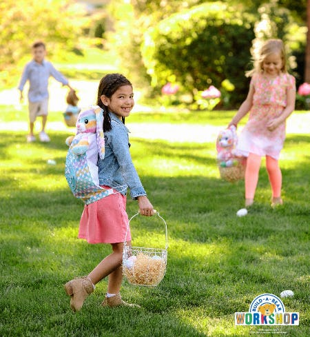 Hop in to Build-A-Bear for a FREE Easter Egg Scavenger Hunt!