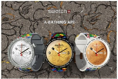 Swatch X Bape Watches