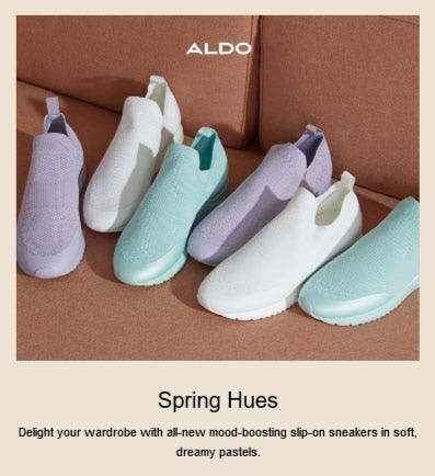 New In: Pastel Sneakers from ALDO