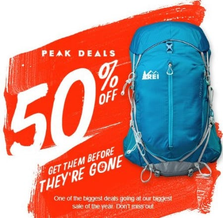 Peak Deals 50% Off